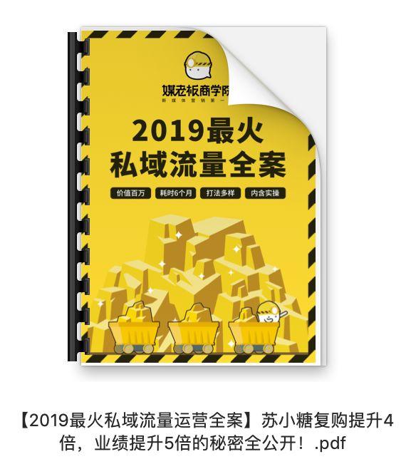 【PDF版本】2019苏小糖私域流量运营全案.PDF